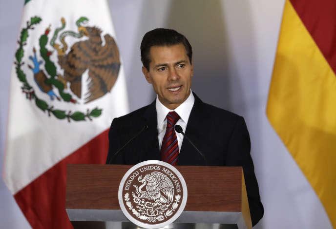 Le président mexicain, Enrique Peña Nieto, à Mexico le 10juin.