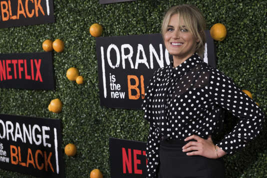 Taylor Schilling, l'actrice de la série « Orange Is the New Black » de Netflix, le 9 juin à New York.