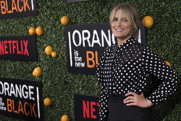 Taylor Schilling, l'actrice de la série« Orange Is the New Black» de Netflix, le9 juin àNew York.