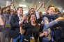 Soirée de résultat du premier tour des élections législatives au siège de En Marche! à Paris, dimanche 11 juin 2017 - 2017©Jean-Claude Coutausse / french-politics pour Le Monde