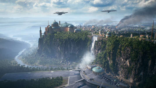 Plan large de la planète Naboo, dans« Star Wars : Battlefront II», à sortir fin 2017.
