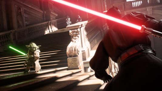 Yoda vs Darth Maul. Naboo. Round 1. Fight.