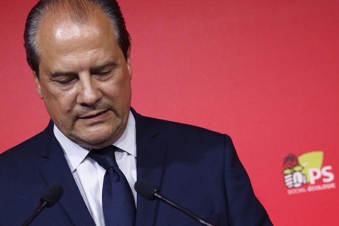 Jean-Christophe Cambadelis, qui a renoncé à ses fonctions de premier secrétaire du parti, au siège du PS à Paris, le 11 juin 2017.