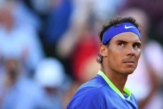 Le joueur espagnol Rafael Nadal après sa victoire contre l'autrichien Dominic Thiem, à Roland-Garros (Paris) le 9 juin.