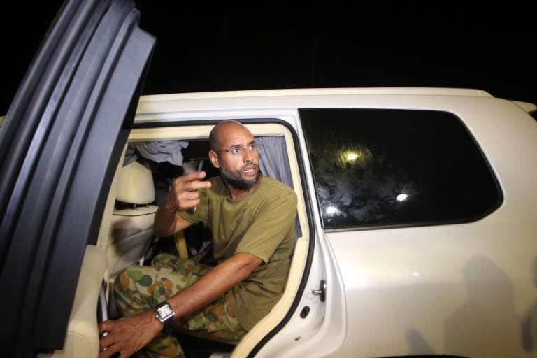 Saïf Al-Islam Kadhafi, le 23août 2011.