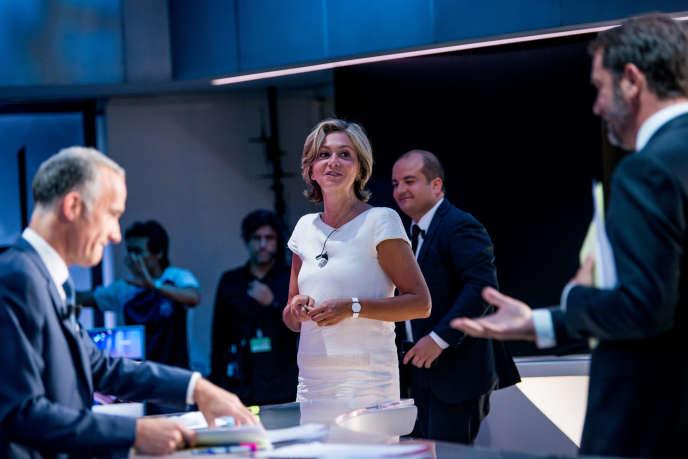 Valérie Pécresse invitée sur le plateau de TF1 à Boulogne-Billancourt, le 11 juin.