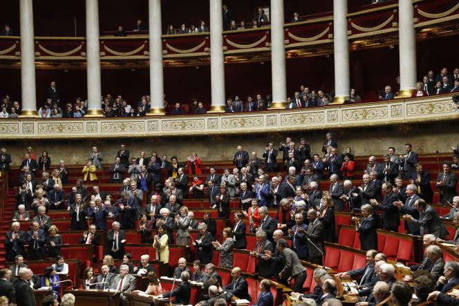 A l'Assemblée nationale à Paris, le 22 février.