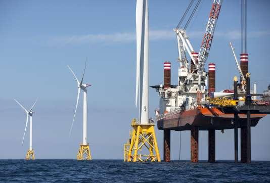 Assemblage de turbines au large du Massachusetts, le 15 août 2016.