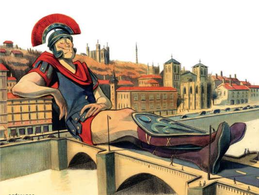 «L'histoire de Lyon en dix pages pour faire le malin en société», dessin deLilas Cognet.