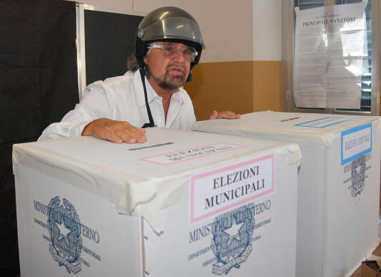 Beppe Grillo, le fondateur du Mouvement cinq étoiles, le 11 juin.