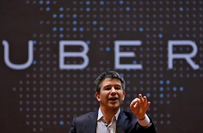 Le PDG d'Uber Travis Kalanick à Mumbai (Inde), le 19 janvier 2016.