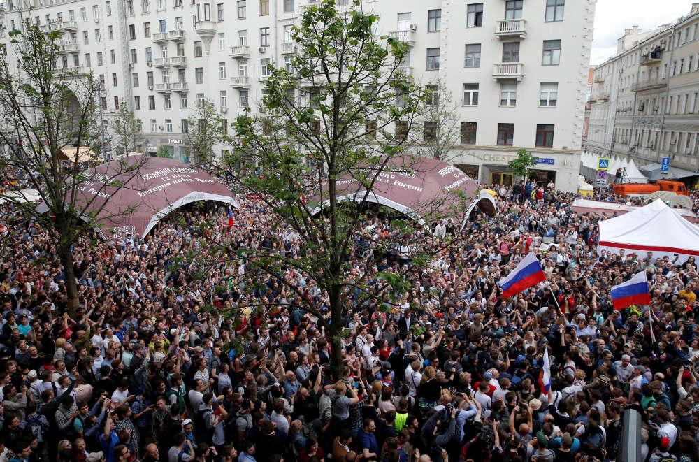 Dans le centre de Moscou, le 12 juin.