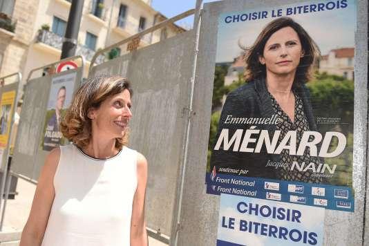 Emmanuelle Ménard (Front national) est arrivée en tête dans la sixième circonscription de l'Hérault.