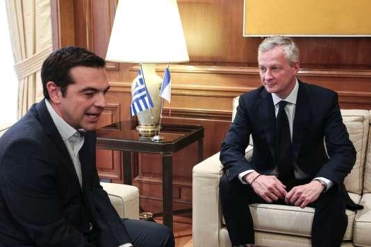 Alexis Tsipras et Bruno Le Maire se sont rencontrés à Athènes.