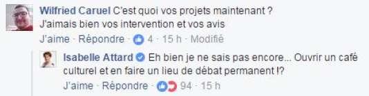 Isabelle Attard répond sur son compte Facebook au sujet de son avenir