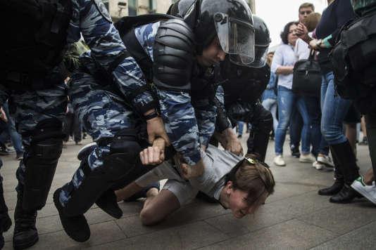 Plusieurs centaines de manifestants ont été arrêtés à Moscou.
