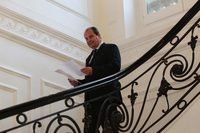 Le premier secrétaire du Parti socialiste Jean-Christophe Cambadélis après le premier tour des élections législatives, à Paris le 11 juin.