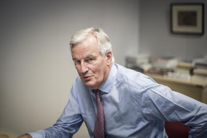 Michel Barnier, négociateur en chef du Brexit pour les Européens, dans son bureau à Bruxelles (Belgique), le 12 juin.