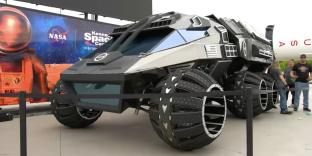 Le prototype d'un rover pour explorer Mars, présenté le 5 juin 2017.