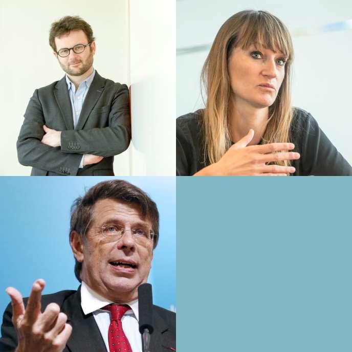 En haut à gauche, Alexandre Garcin, à droite Béa Johnson, en bas Philippe Chalmin.