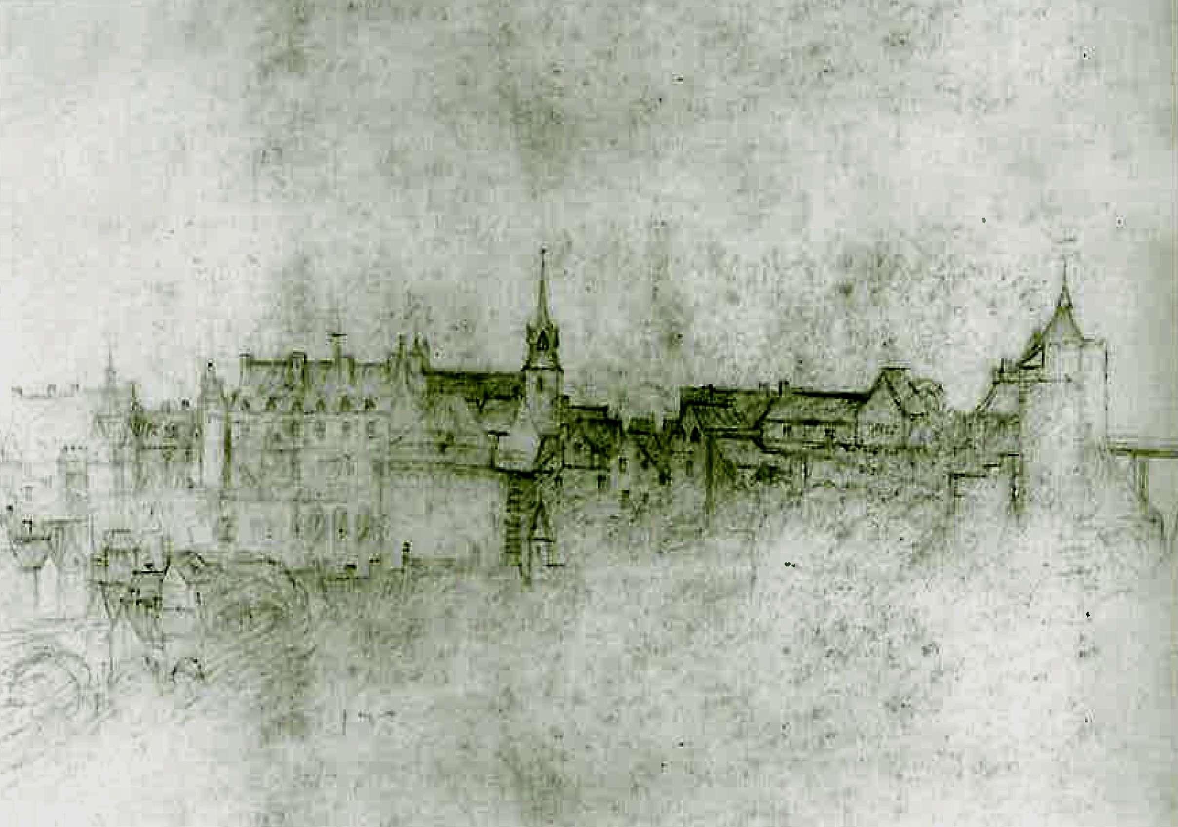 Dessin attribué à l'atelier de Léonard de Vinci (datant de 1517).
