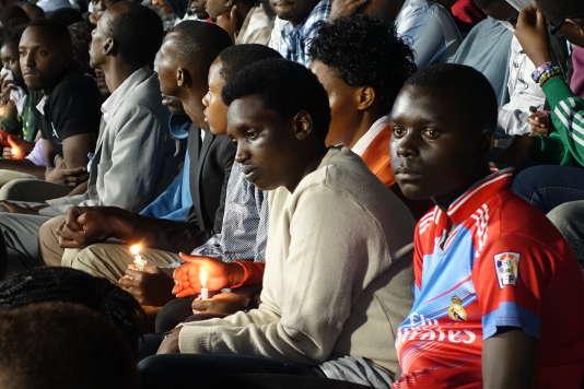 Commémoration du génocide à Kigali, au Rwanda, le 7 avril.