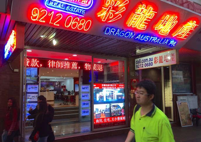 Quartier chinois dans le centre de Sydney (Australie), le 9 juin.