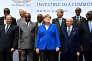 Des chefs d'Etat réunis à Berlin en présence notamment de la chancelière allemande, Angela Merkel, et de la présidente du FMI, Christine Lagarde, lors de la conférence consacrée au «partenariat avec l'Afrique», le 12 juin à Berlin.