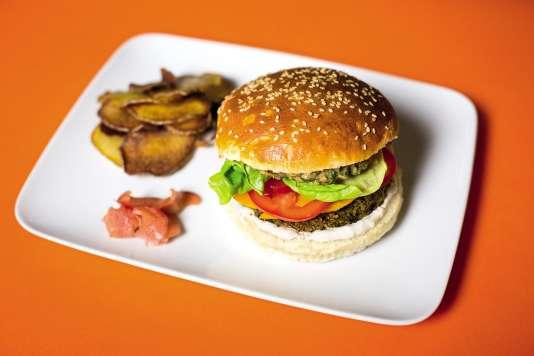 Le burger végétarien deVanessa Krycève et Elodie Hué