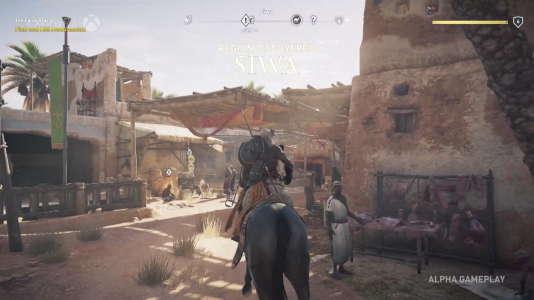 A cheval dans une cité égyptienne de la région de Siwa.