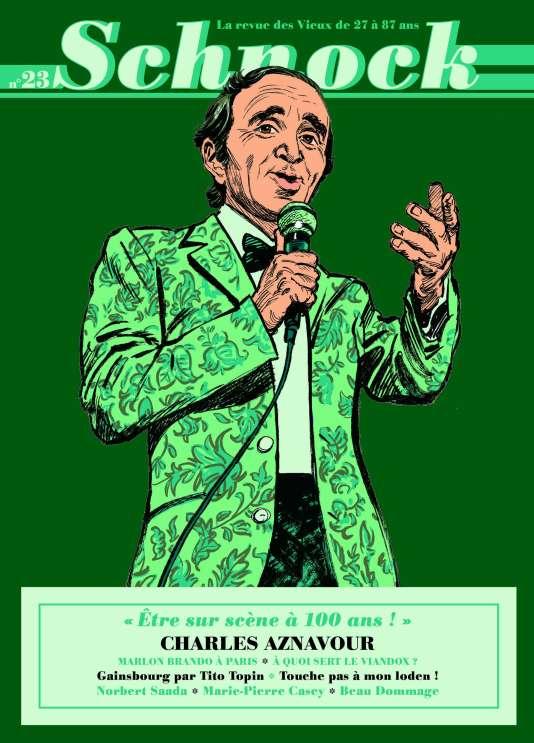 Charles Aznavour à la une du numéro 23 de la revue trimestrielle «Schnock».