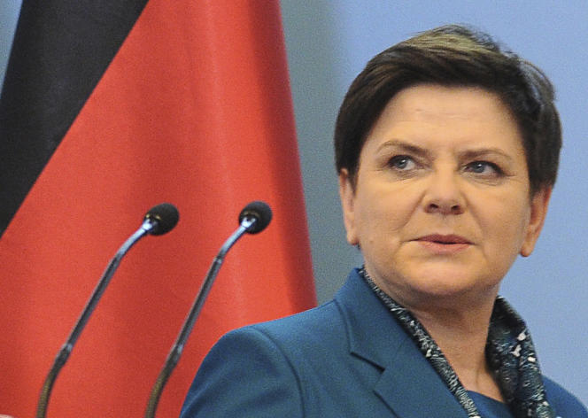 La première ministre polonaise, Beata Szydlo, en février.