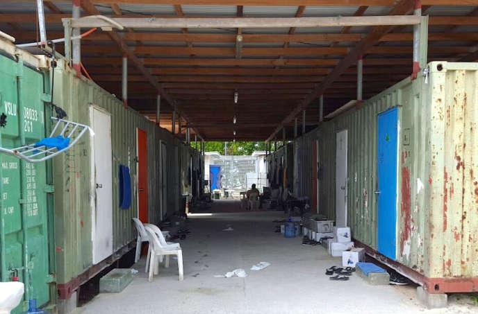 Le centre de rétention de l'île Manus, en Papouasie-Nouvelle-Guinée, le 11 février 2017.