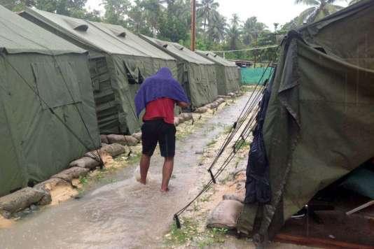 Un centre australien pour les réfugiés sur l'île de Manus, en Papouasie-Nouvelle-Guinée, en février 2014.