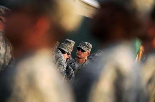 Cliché datant de 2008 montrant un soldat américain à Camp Phoenix à Kaboul.