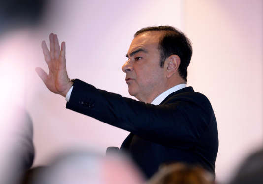 Carlos Ghosn, le PDG de l'Alliance Renault-Nissan, à Boulogne-Billancourt (Hauts-de-Seine), le 10 février.