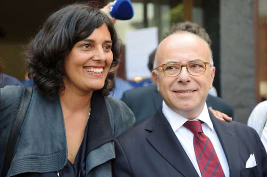 Myriam El Khomri et Bernard Cazeneuve, à Paris, le 14 juin.
