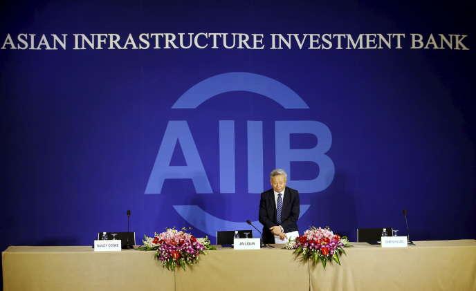 Jin Liqun, le patron de la Banque asiatique d'investissement dans les infrastructures (AIIB), à Pékin, le 17 janvier 2016.