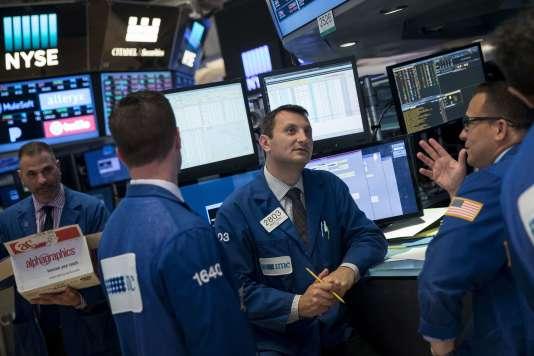 A la Bourse de New York, le 14 juin.