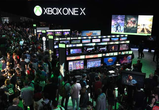 Le stand de Microsoft à l'E3 2017.