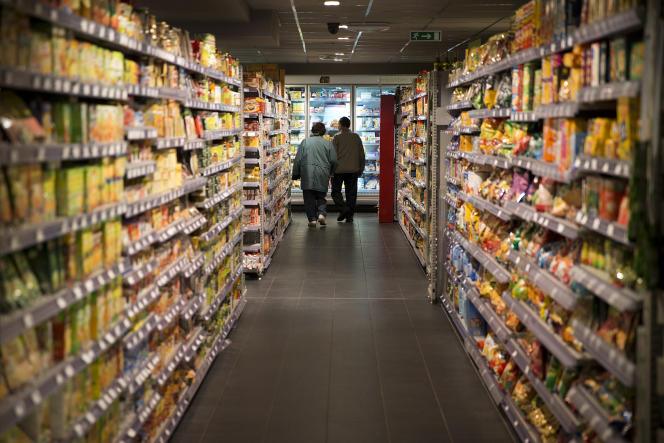 Dans un supermarché parisien, en 2014.