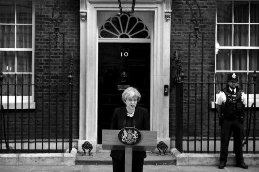 La première ministre britannique Theresa May, le 4 juin, au lendemain de l'attentat de Londres