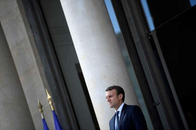 Le président Emmanuel Macron au palais de l'Elysée, à Paris le 12 juin.