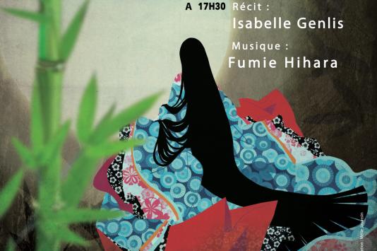 « Princesse Kaguya, la fille du coupeur de bambous», par Isabelle Genlis (récit) et Fumie Hihara (musique) au Théâtre de verdure du Jardin Shakespeare.