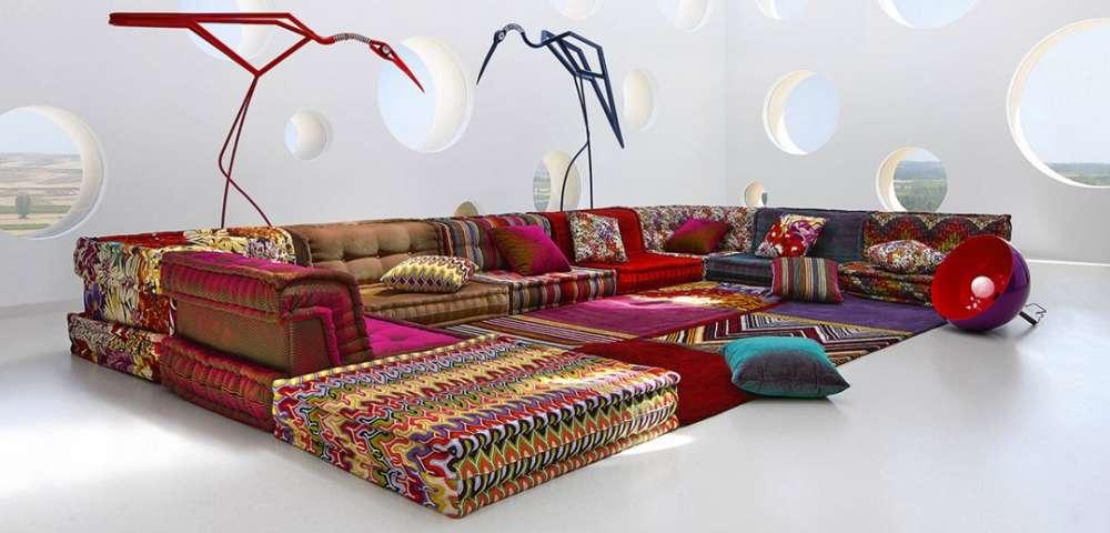 La griffe italienne Missoni Home reprend, en 2015, les motifs de tricot en zig zags emblématiques de son prêt-à-porter (apparus pour la première fois dans une collection mode de 1967), et les couleurs radieuses de la «Dolce Vita»