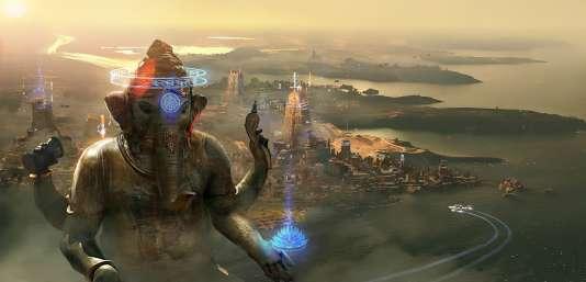 La planète Ganesh, colonisée par des Indiens.