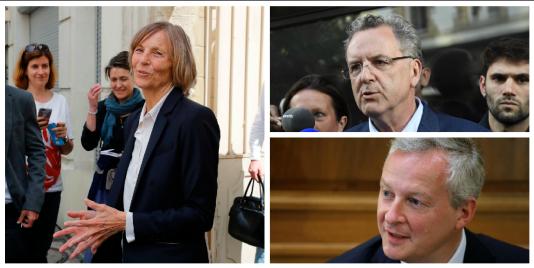 Marielle de Sarnez, Richard Ferrand et Bruno Le Maire.