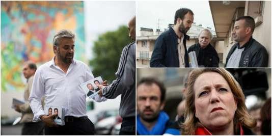 Alexis Corbière, Manuel Bompard et Danielle Simonnet.