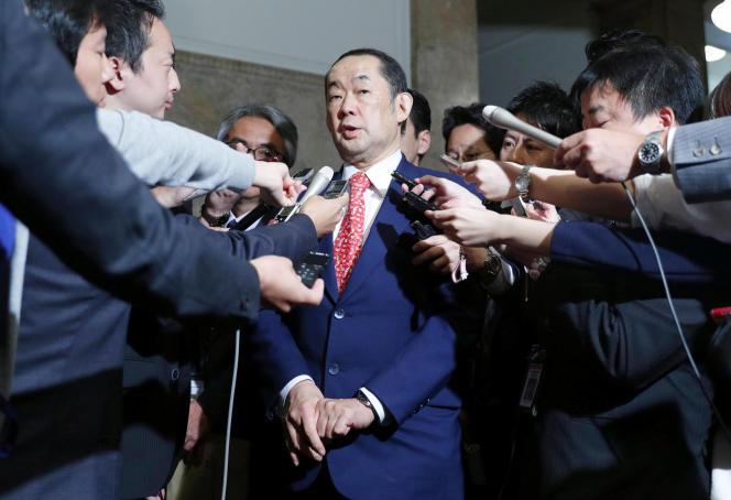 Le ministre de la justice du Japon,Katsutoshi Kaneda, à Tokyo, le 15 juin.
