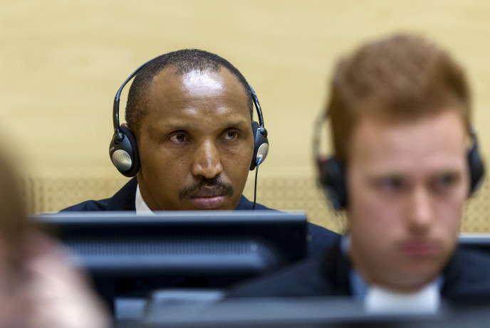 Le Congolais Bosco Ntaganda, le 3 septembre 2015, à la Cour pénale internationale de La Haye, où il est poursuivi pour crimes contre l'humanité et crimes de guerre.